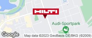 Wegbeschreibung zu Hilti Pop-Up Store Ingolstadt-Campus