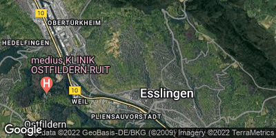 Google Map of Esslingen am Neckar
