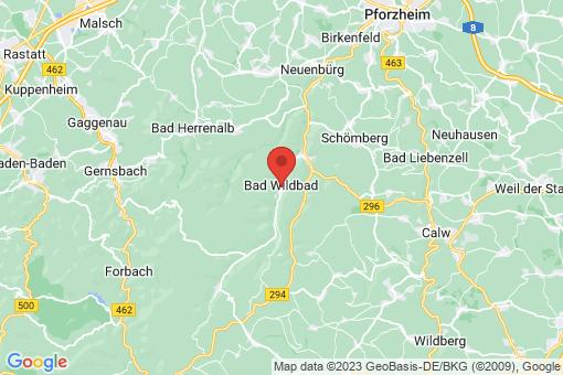 Karte Bad Wildbad im Schwarzwald