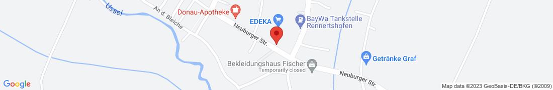 BayWa Tankstelle Rennertshofen Anfahrt