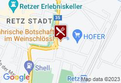 Mährische Botschaft im Retzer Weinschlössel - Karte