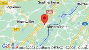 Carte de localisation du centre de contrôle technique DRUSENHEIM