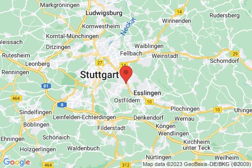 Karte Stuttgart Hedelfingen