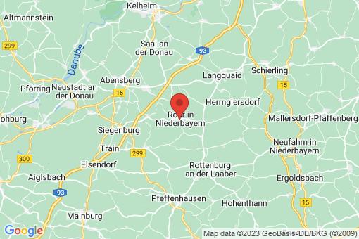 Karte Rohr in Niederbayern