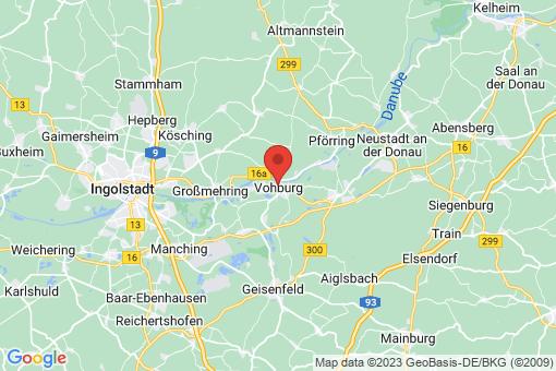 Karte Vohburg an der Donau