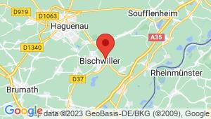 Carte de localisation du centre de contrôle technique OBERHOFFEN SUR MODER