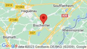 Carte de localisation du centre de contrôle technique BISCHWILLER