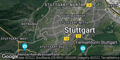 Google Map of Stuttgart-West