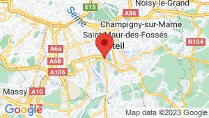 Carte de localisation du centre de contrôle technique CRETEIL