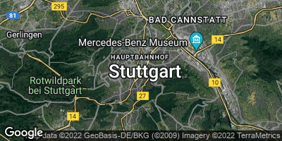 Google Map of Stuttgart-Mitte
