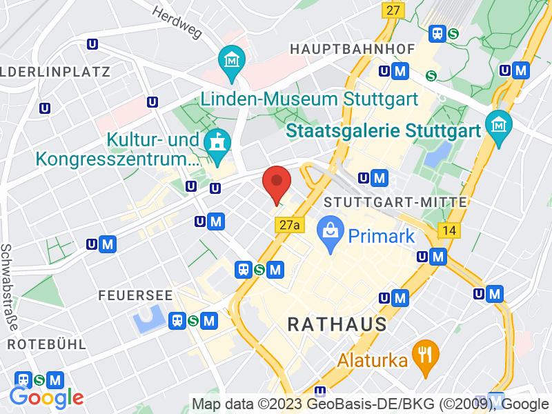 Map of Hospitalhof