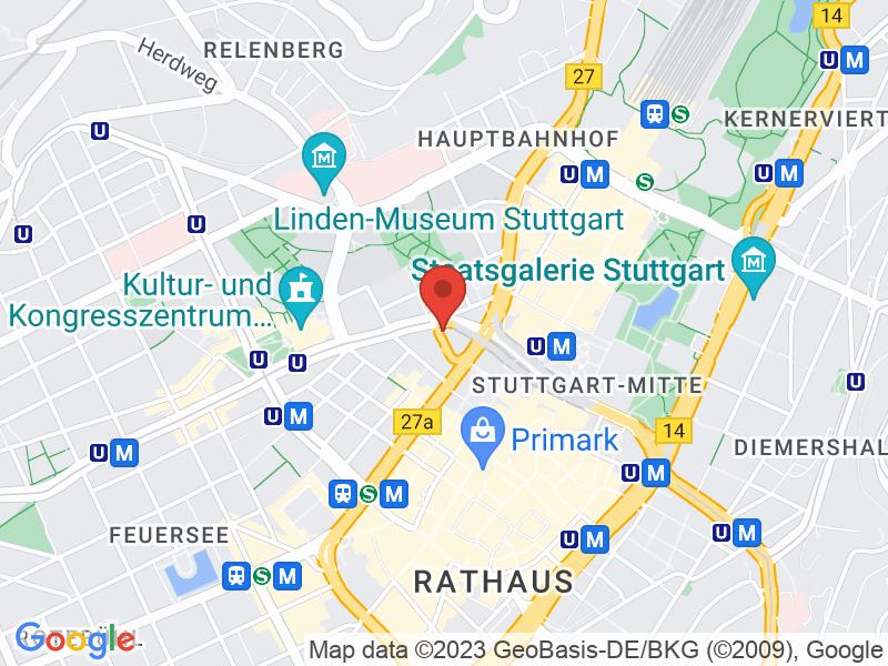 Map of Haus der Wirtschaft Stuttgart