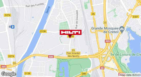Get directions to Espace Hilti - La Plateforme du Bâtiment - Alfortville