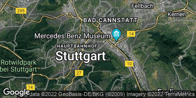Google Map of Stuttgart-Ost