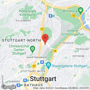 Map of Kids Foot Locker Stuttgart at Mailänder Platz 7, Stuttgart,  71073