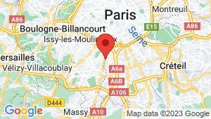 Carte de localisation du centre de contrôle technique BAGNEUX