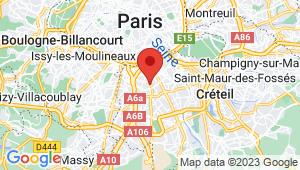 Carte de localisation du centre de contrôle technique VILLEJUIF