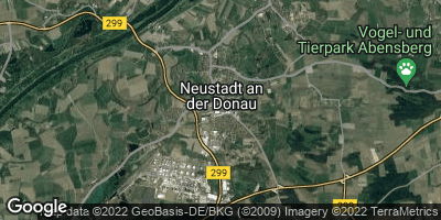 Google Map of Neustadt an der Donau
