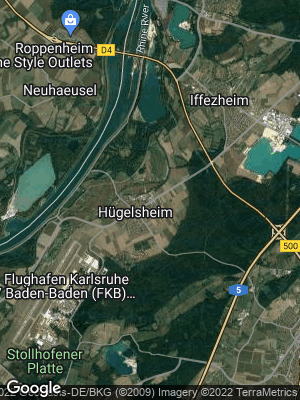 Google Map of Hügelsheim
