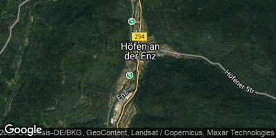 Google Map of Höfen an der Enz
