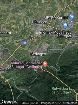 Google Map of Gerlingen