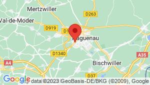 Carte de localisation du centre de contrôle technique HAGUENAU