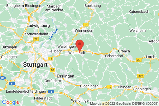 Karte Weinstadt