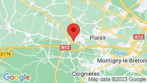 Carte de localisation du centre de contrôle technique VILLIERS SAINT FREDERIC