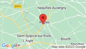 Carte de localisation du centre de contrôle technique RUGLES