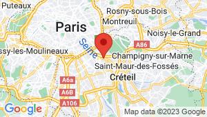 Carte de localisation du centre de contrôle technique ALFORTVILLE