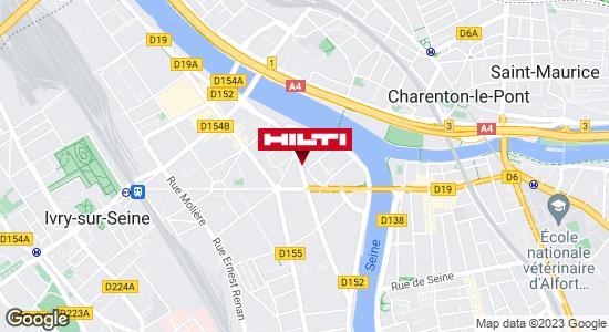 Get directions to Espace Hilti - La Plateforme du Bâtiment - Ivry Sur Seine