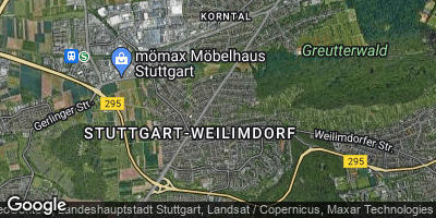 Google Map of Korntal-Münchingen