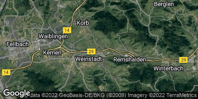 Google Map of Weinstadt