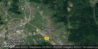 Google Map of Urbach