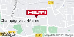 Get directions to Espace Hilti - La Plateforme du Bâtiment - Champigny sur marne