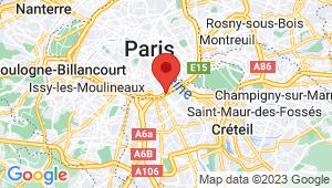 Carte de localisation du centre de contrôle technique Ivry-sur-Seine