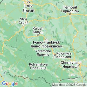 Карта Карпат