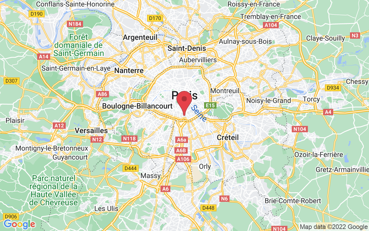 Plan de la ville de Paris 13e Arrondissement