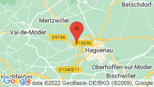 Carte de localisation du centre de contrôle technique SCHWEIGHOUSE SUR MODER