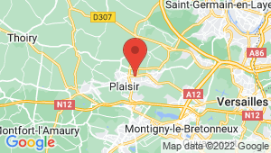 Carte de localisation du centre de contrôle technique PLAISIR