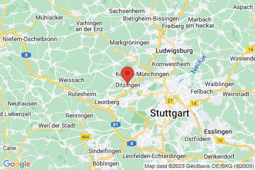 Karte Ditzingen