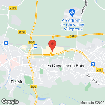 Map of Foot Locker Les Clayes-sous-bois at C.C. Alpha Park 2, local 2, 80 avenue Henri Barbusse, Zone Industrielle du Chêne Sorcier, Les Clayes-sous-bois,  78340