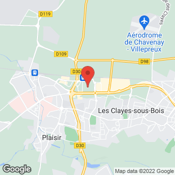 Map of Foot Locker Plaisir at 161 Chemin Departmental, Plaisir, Yvelines 78370