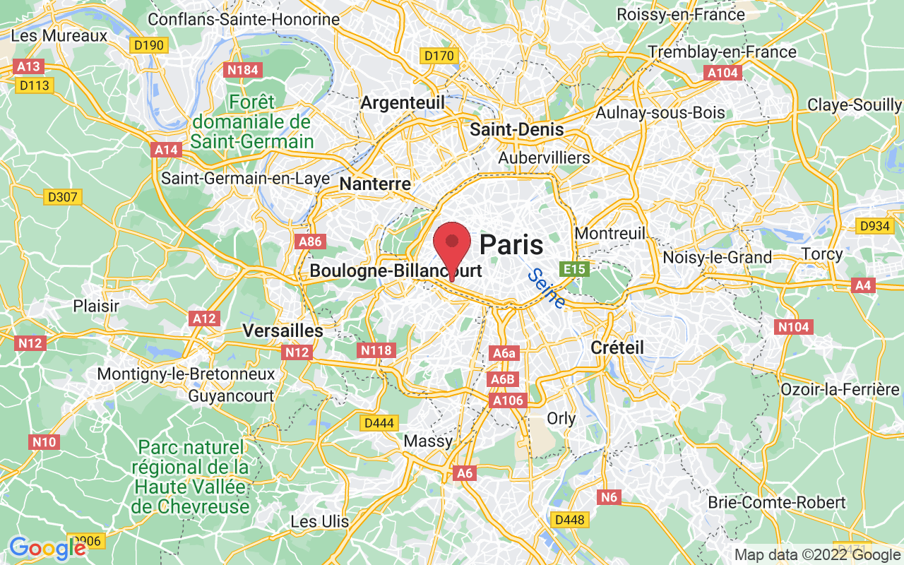 Plan de la ville de Paris 15e Arrondissement