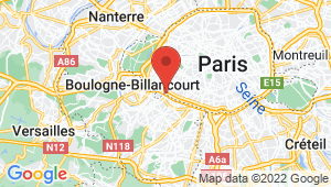 Carte de localisation du centre de contrôle technique PARIS