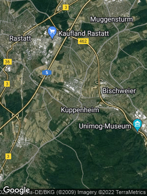 Google Map of Kuppenheim