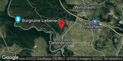 Google Map of Tiefenbronn