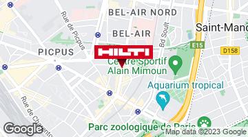 Get directions to Espace Hilti - La plateforme du bâtiment - Paris 12e Bizot