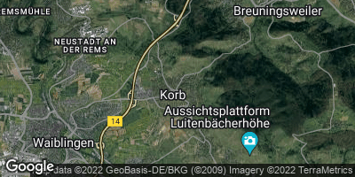 Google Map of Korb