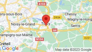 Carte de localisation du centre de contrôle technique TORCY